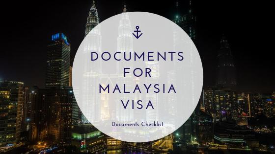 document checklist malaysia visa online