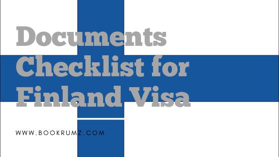 documents checklist for finland visa