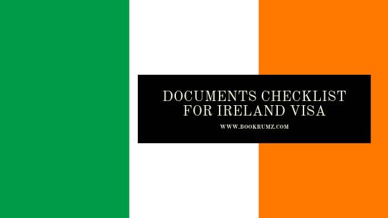documents checklist for ireland visa