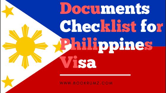 documents checklist for philippines visa