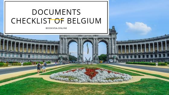 documents checklist of belgium visa