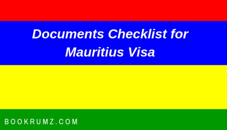 documents checklist for mauritius visa