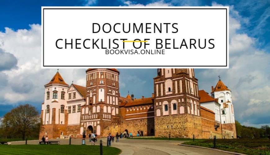 documents checklist of belarus