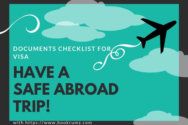 documents checklist for visa