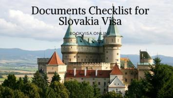 documents checklist for slovakia Visa