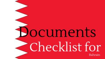 documents checklist for bahrain