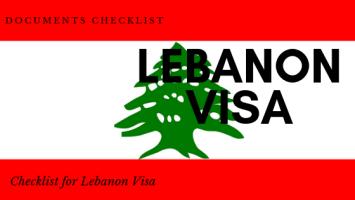 documents checklist for lebanon visa