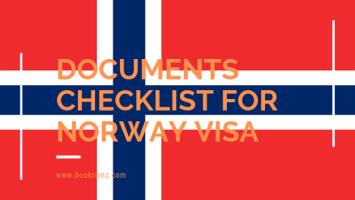 documents checklist for norway visa