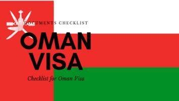 documents checklist for oman visa