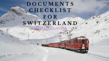 documents checklist for switzerland